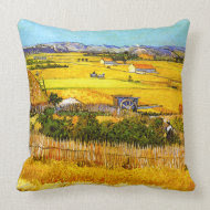 Van Gogh: Landscape Near Arles throwpillow