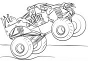Dibujos De Monster Truck Para Colorear Paginas Para Imprimir Y