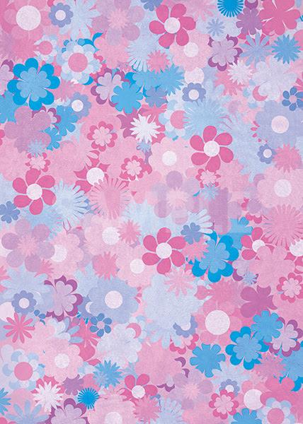 紫基調の花のイラストのa4サイズ背景素材 無料商用可能a4サイズ