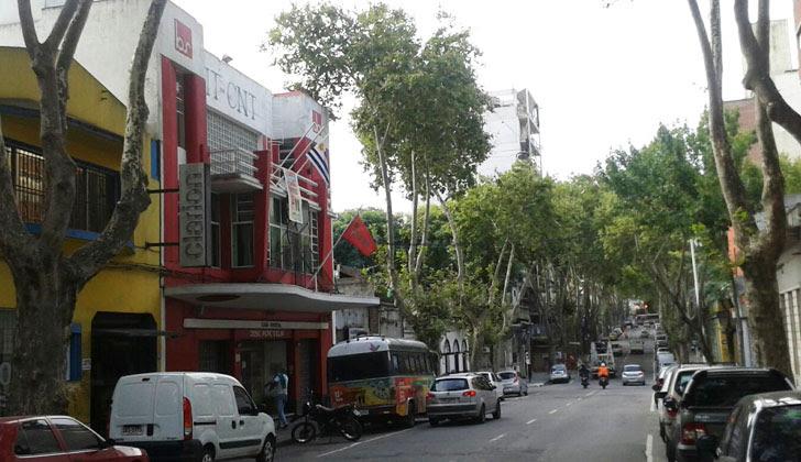 Sede del PIT-CNT, en la calle Juan D. Jackson. Foto: Carlos Loría.