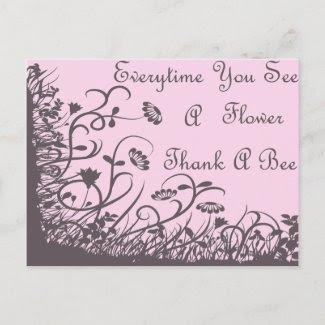 Thank A Bee Postcard postcard
