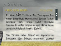 Tarkan's press statement at his official site