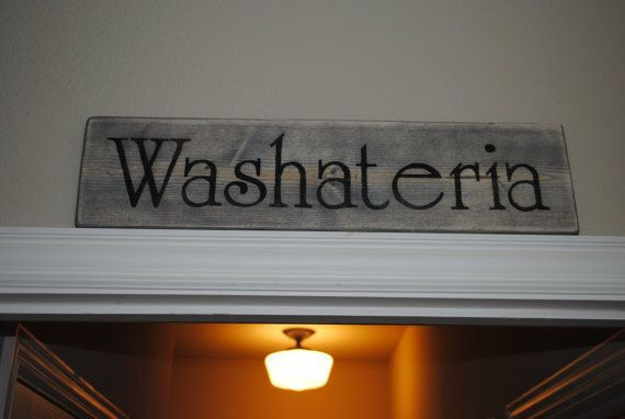 room by Room Sign EdnaFayeCreations, Rustic Washiteria Laundry $35.00  sign rustic Sign laundry