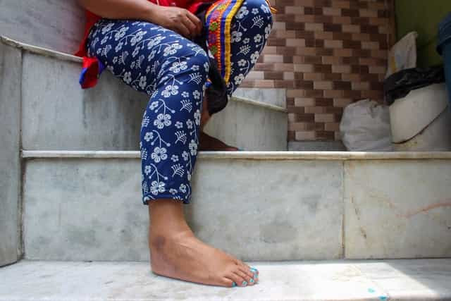 'I felt like killing myself with all that pain and the expenses I knew would follow,' says Honey, who had contracted an STD during her pregnancy. Image courtesy JigyasaMishra