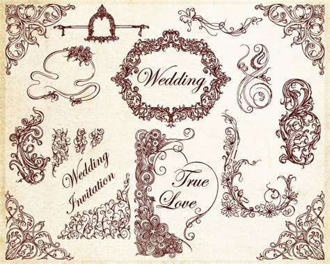 Ornamental Wedding Decoration Elements Vector   Vector