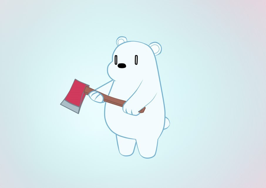 As I said yesterday, here is Ice Bear or Polar from We Bare Bears. Im having so much fun drawing them. Next it will be Grizzly ;)