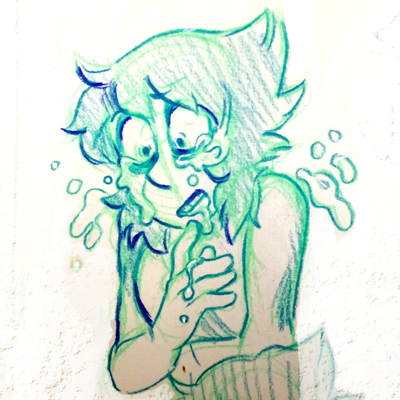Weather's got me moody so here's some venty Lapis doodles