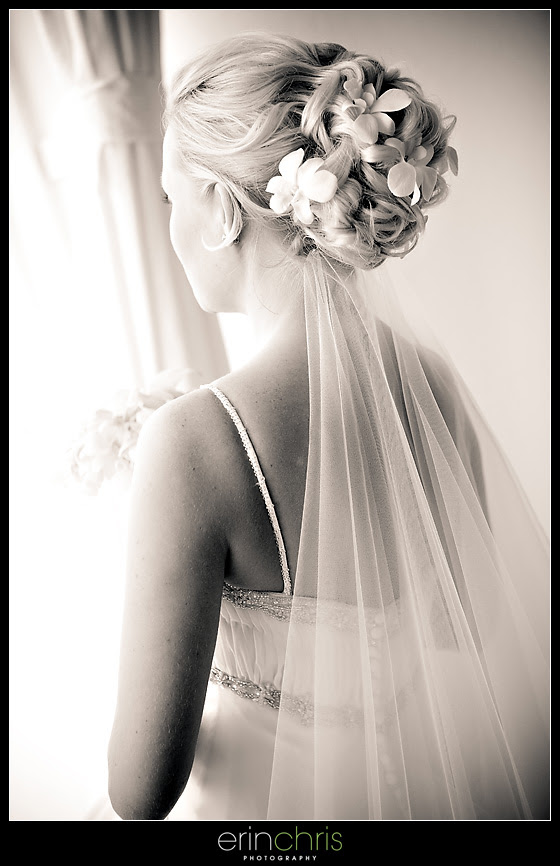 Hairstyle with flowers for a beach wedding on St. Pete Beach