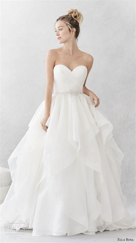 Ella Rosa Spring 2017 Wedding Dresses   * Strapless