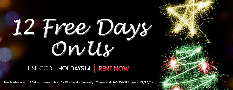 Holiday Special - 12 Free Rental Days!