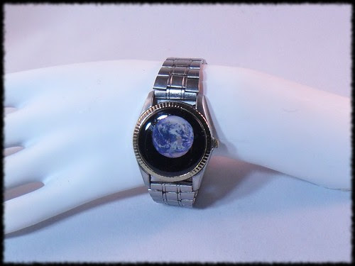The Earth - resin in an old watch