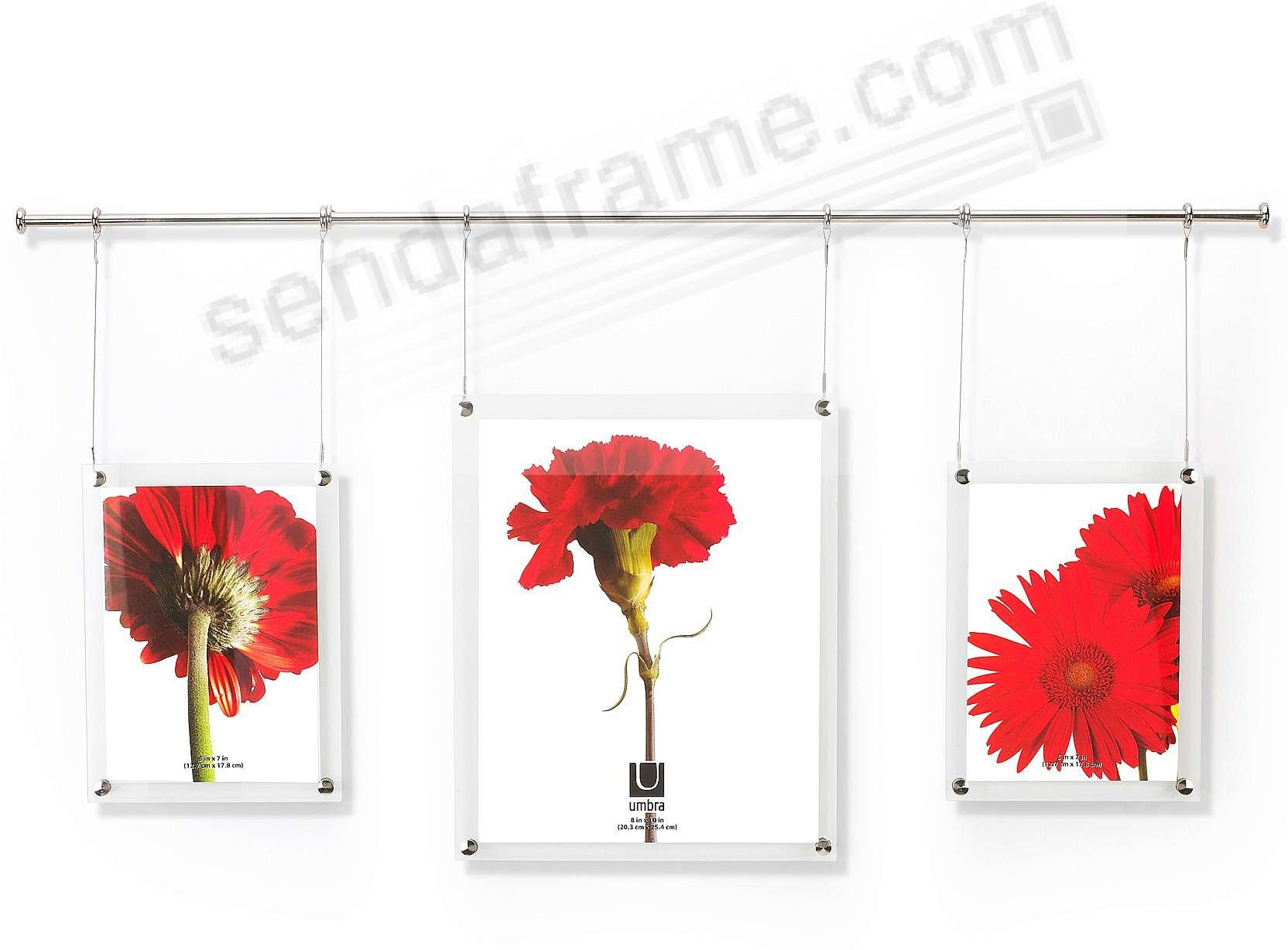 The Original Trapeze 3 Photo System By Umbra 1 8x10 2 5x7s