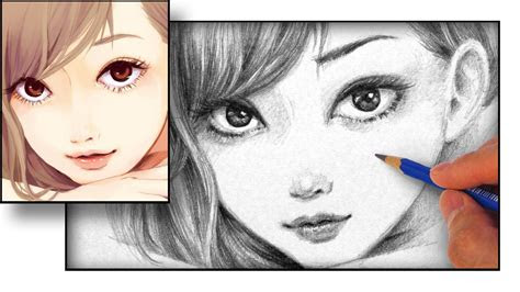 draw  anime face youtube