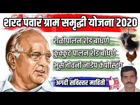 Sharad Pawar Gram Samrudhhi Yojna शरद पवार ग्राम समृद्धि योजना Shetkari ...