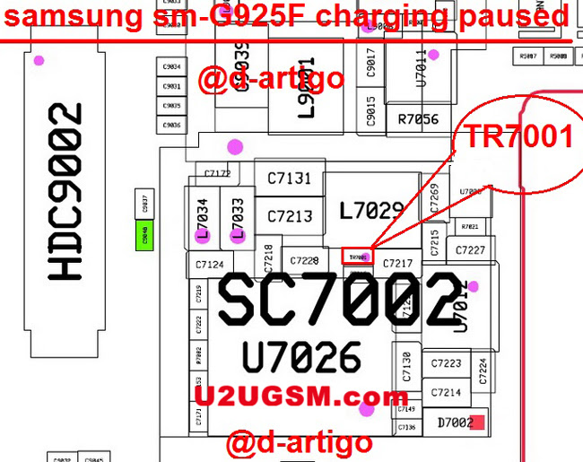 Samsung Galaxy S6 Edge G925F Charging Paused Solution Jumpers