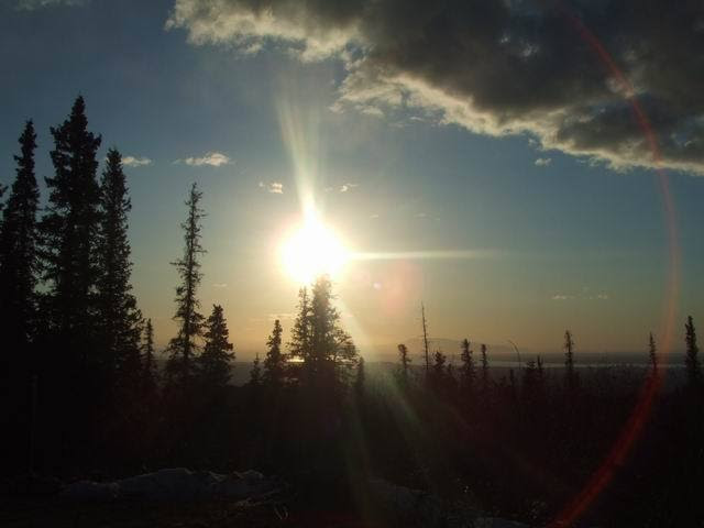 3-ish miles east & up from anchorage - alsaka - eternal