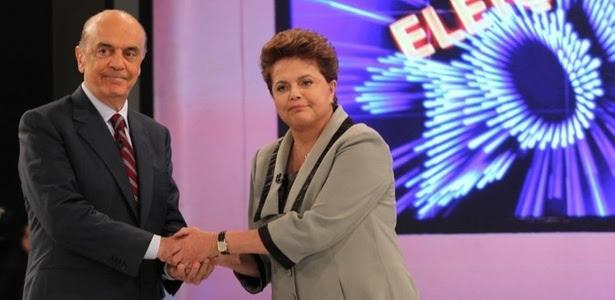 Serra e Dilma se enfrentaram no último debate da disputa presidencial; veja álbum com fotos