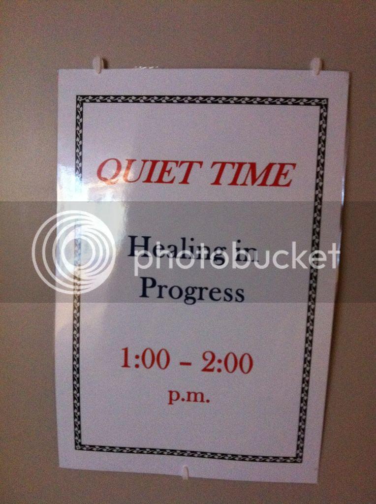 Quiet-Time-Sign-Hospital-Healing-In-Progress