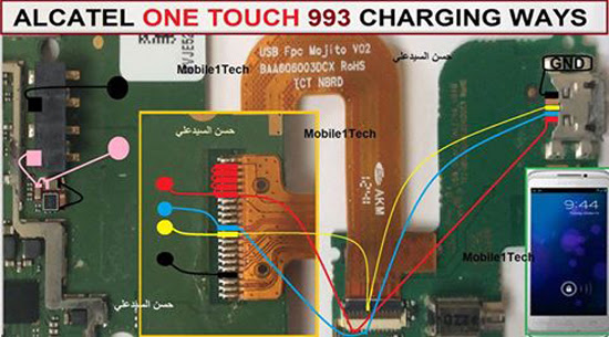 Alcatel One Touch 993 Usb Charging Problem Solution Jumper Ways