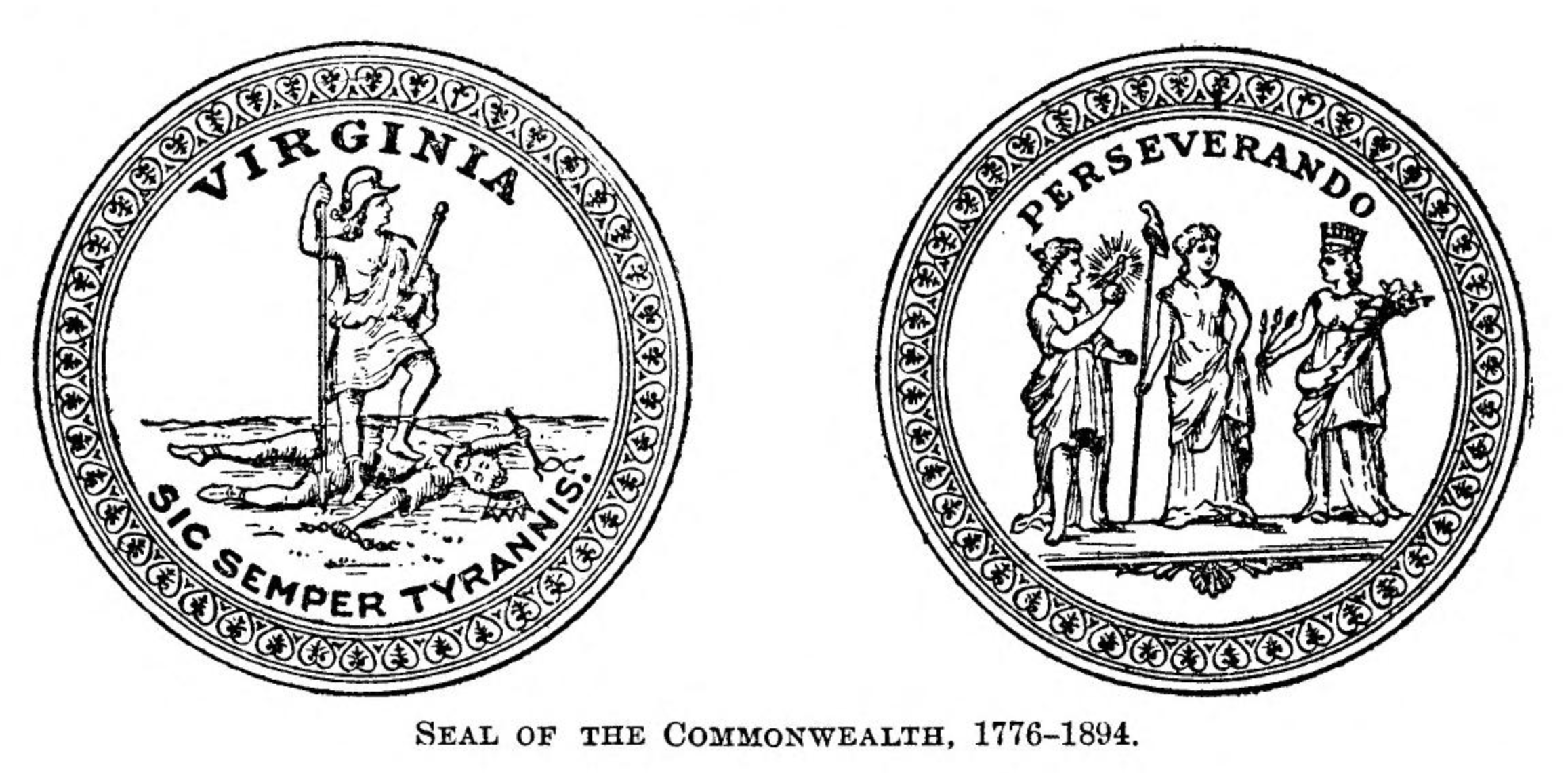 The seals of the Commonwealth of Virginia