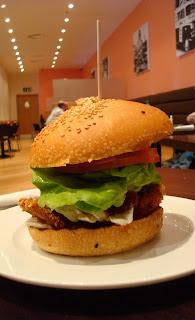 Chicken Camembert & Cranberry burger from GBK