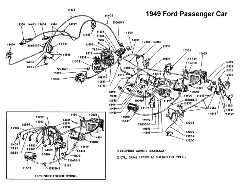 52 wiring diagram and engine ford truck  wiring diagram