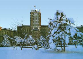 Tabriz City Hall in winter. Photos from East Azerbaijan by x.Siami. Tehran, 1996