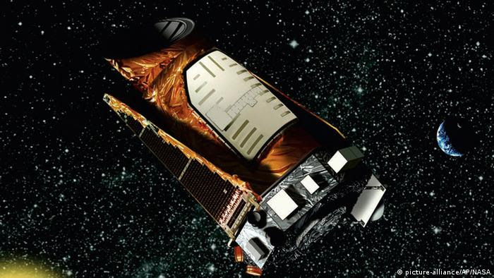 This artist rendition provided by NASA shows the Kepler space telescope. Kepler is designed to search for Earth-like planets in the Milky Way galaxy. The first opportunity to launch the unmanned Kepler space telescope aboard a Delta II rocket from the Cape Canaveral Air Force Station in Florida Friday March 6, 2009 at 10:48 p.m. EST. (AP Photo/NASA)