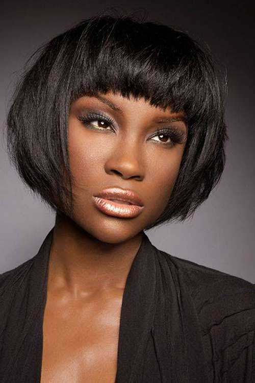 14 African American Blunt Bob Hairstyle Haircuts