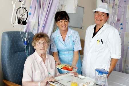 FOOD: Darlington Memorial Hospital was previously recognised by the Campaign for Better Hospital Food for its good menu