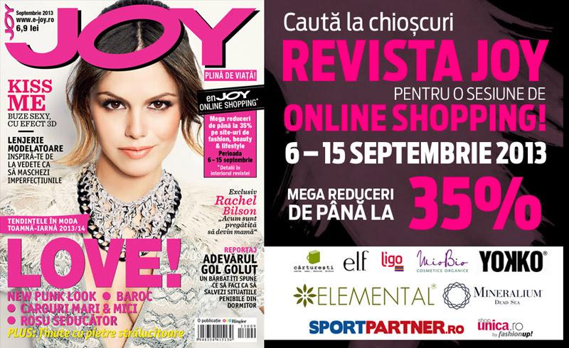 Promo pentru revista JOY Romania, editia Septembrie 2013
