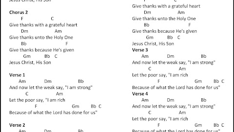 Give Thanks To The Lord Lyrics And Chords