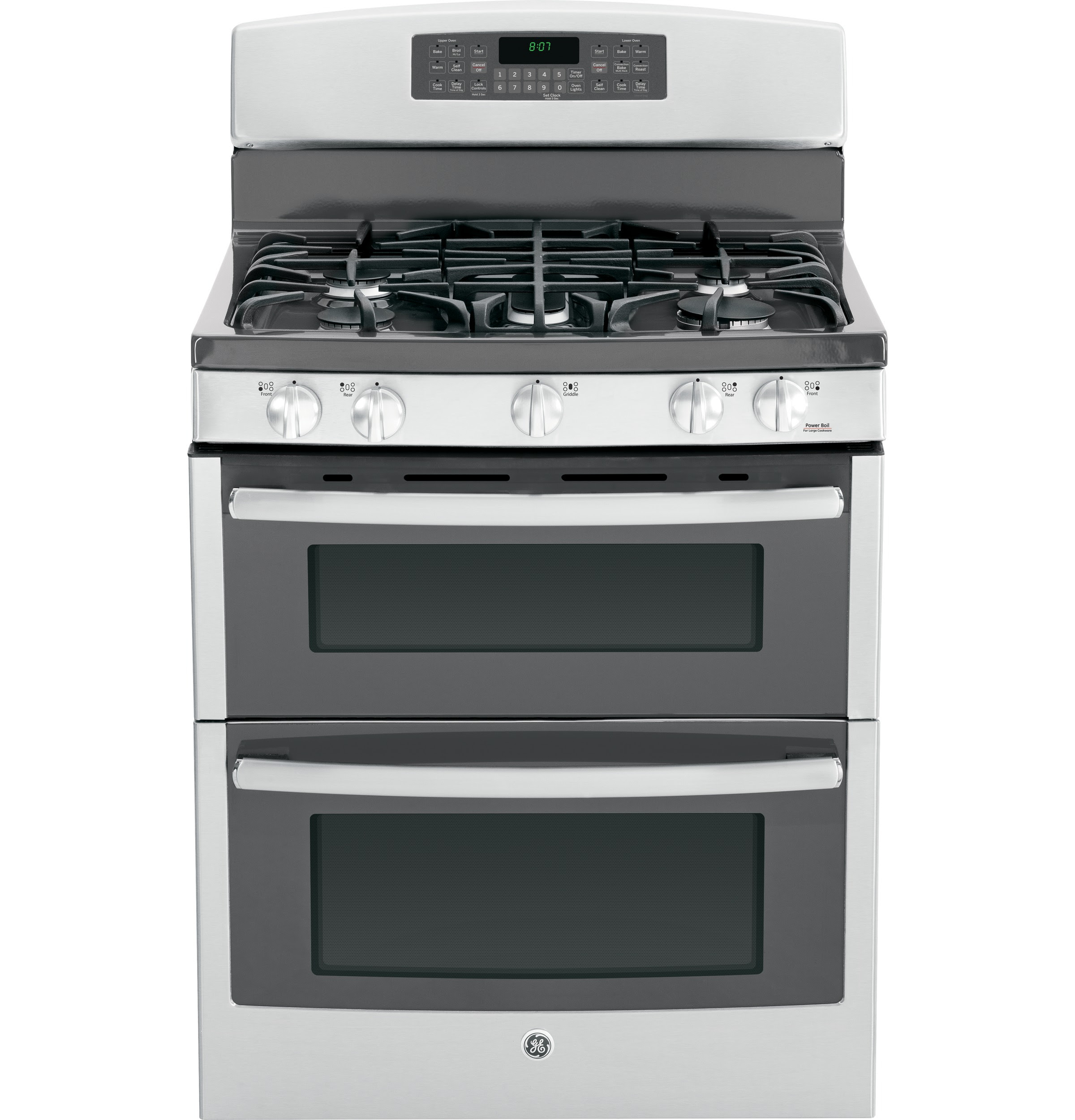 """GE® 30"""" Free-Standing Gas Double Oven Range with ..."""