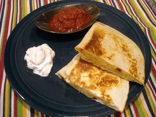 Spicy Chipotle Potato Quesadillas