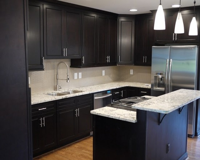 The Designs for Dark Cabinet Kitchen  Home and Cabinet Reviews