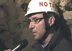 Massimo Zucchetti nella miniera di uranio di Venaus