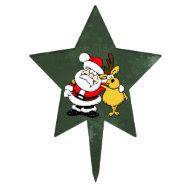 Santa & Reindeer Cake Topper