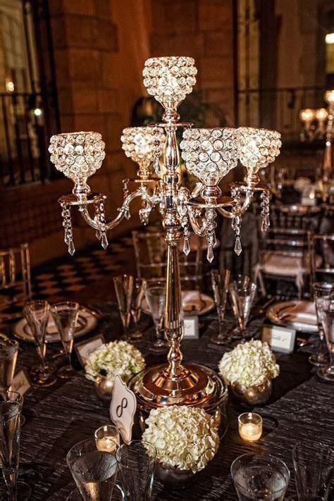 5 Arm Crystal Candelabra Centerpiece Wedding Hanging