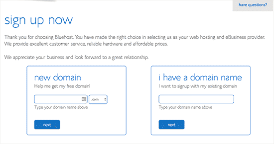 Choosing a domain name for your website