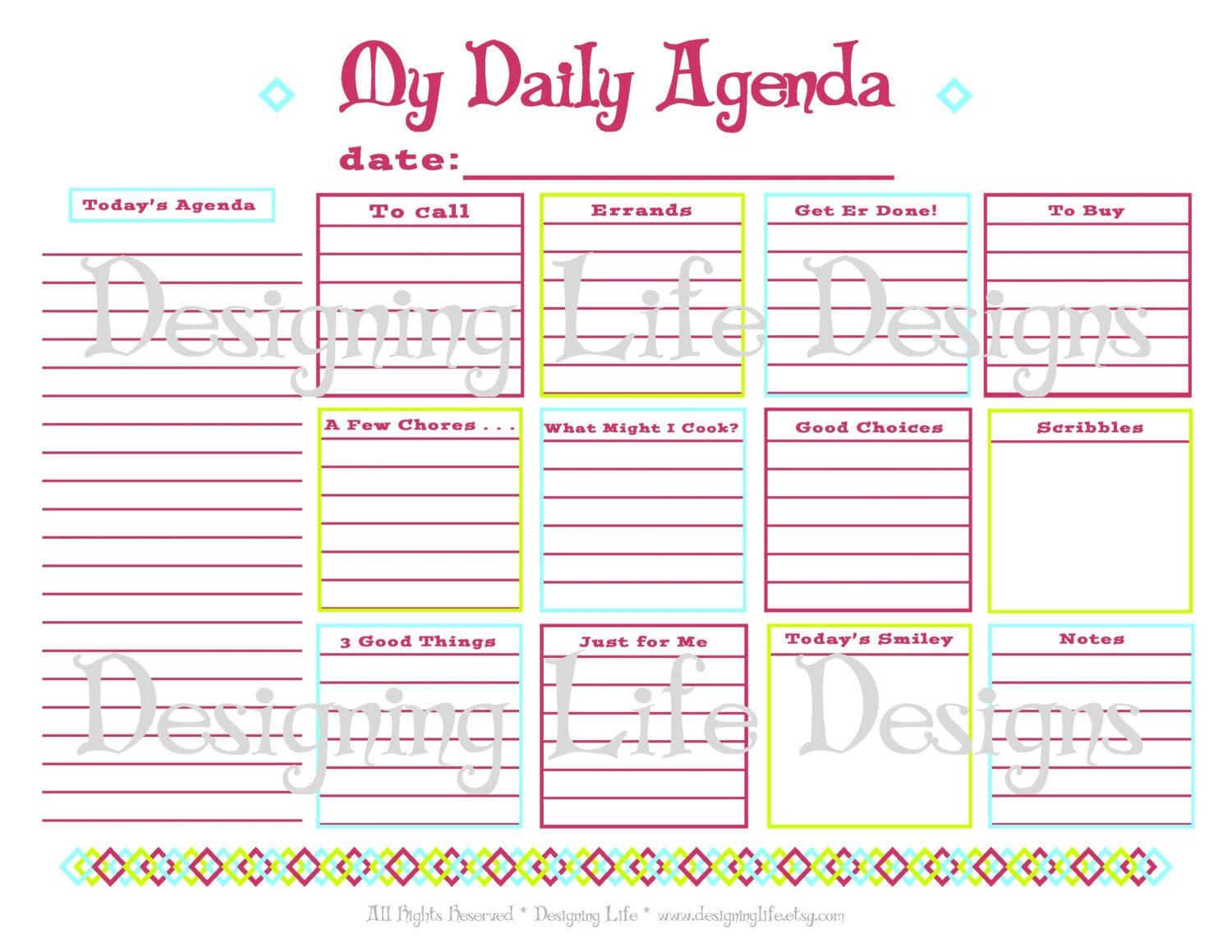 Daily To Do List Planner – March 2017 Calendar