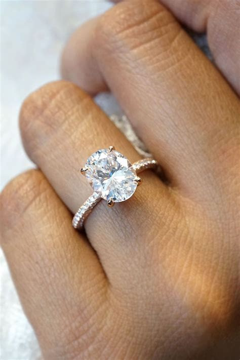 Oval Diamond Engagement Ring   Oval Engagement Rings in