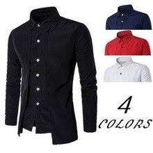 Men's Shirts Casual Fake Two Piece Brand Business Dress Shirts
