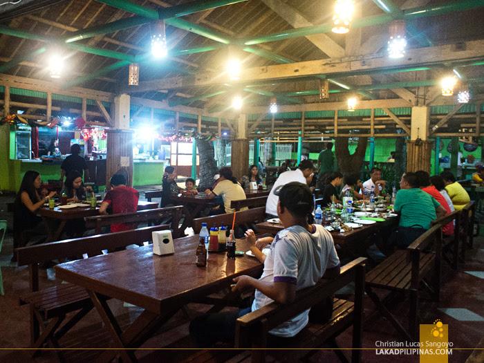 Inside RML Manokan Haus Kamayan in Roxas City