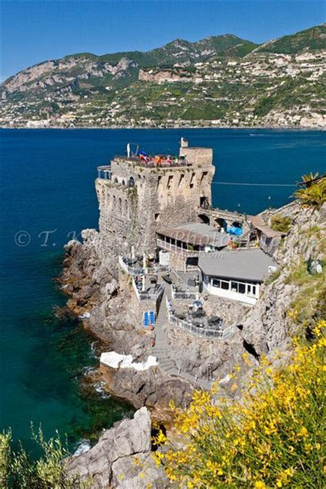 The Norman tower castle restaurant on the Amalfi Coast