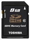 【Amazon.co.jp限定】TOSHIBA SDHCメモリカード Class10 8GB SD-BX08GWF [フラストレーションフリーパッケージ(FFP)]