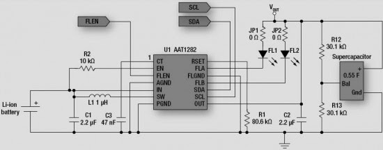 Reference circuit diagram of AAT1282