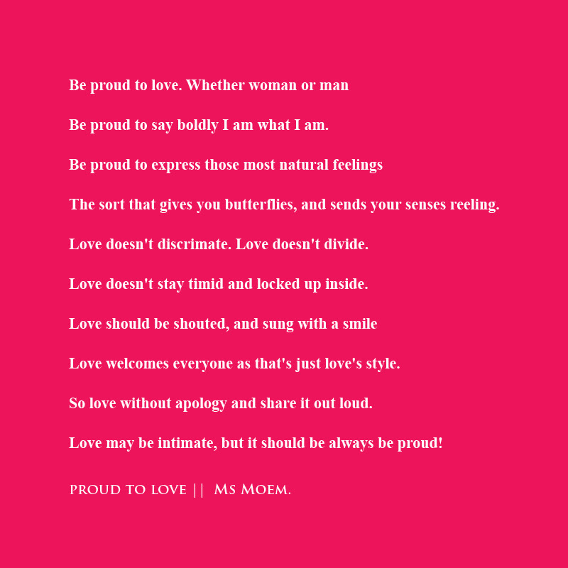 Proud Love Poem Ms Moem Poems Life Etc