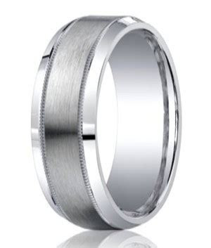 Benchmark Argentium Silver Wedding Band   Milgrain Edge