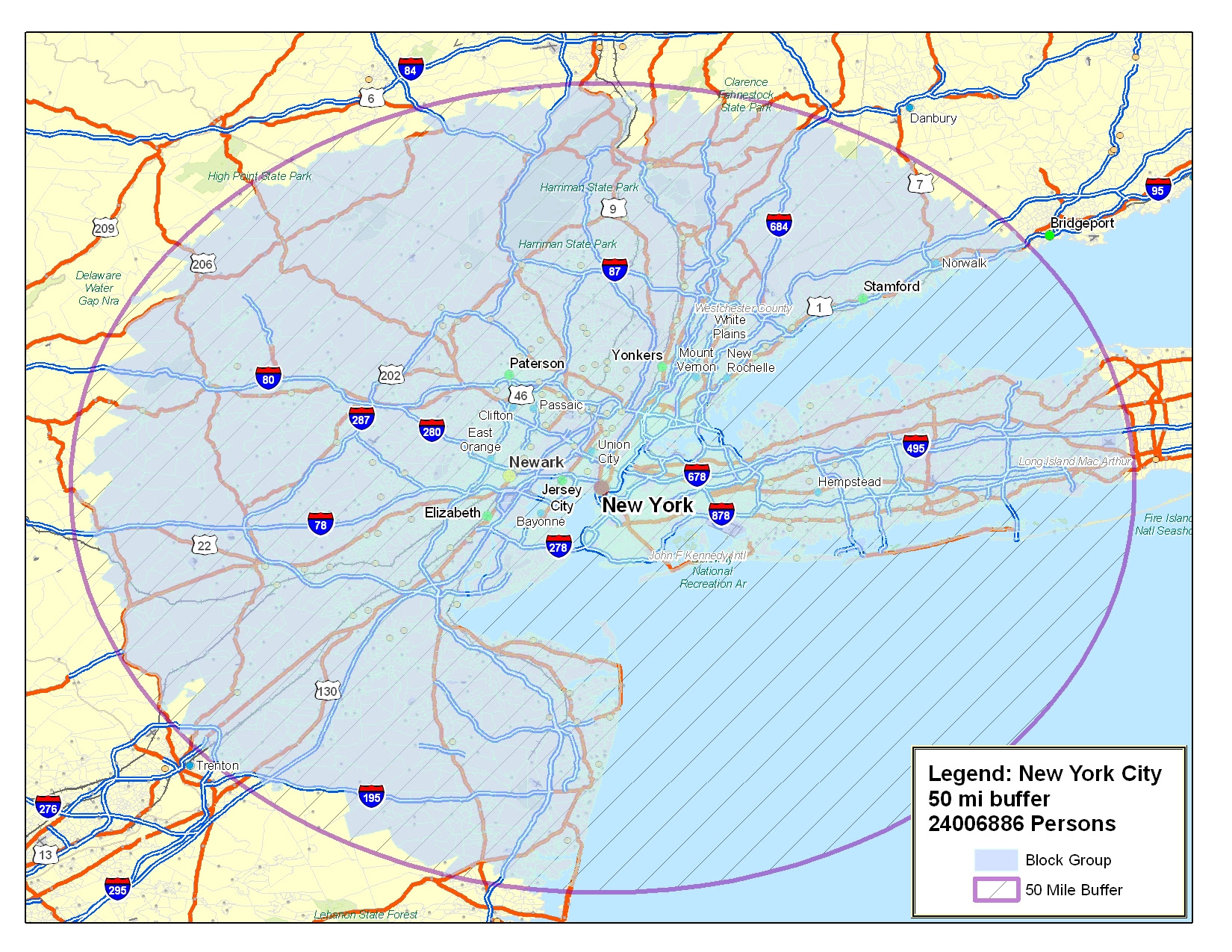 50 Mile Radius Map - DANIELELINA  Mile Radius Map on