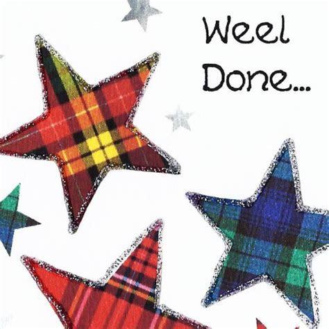 Scottish Congratulations Card Star WWCN05